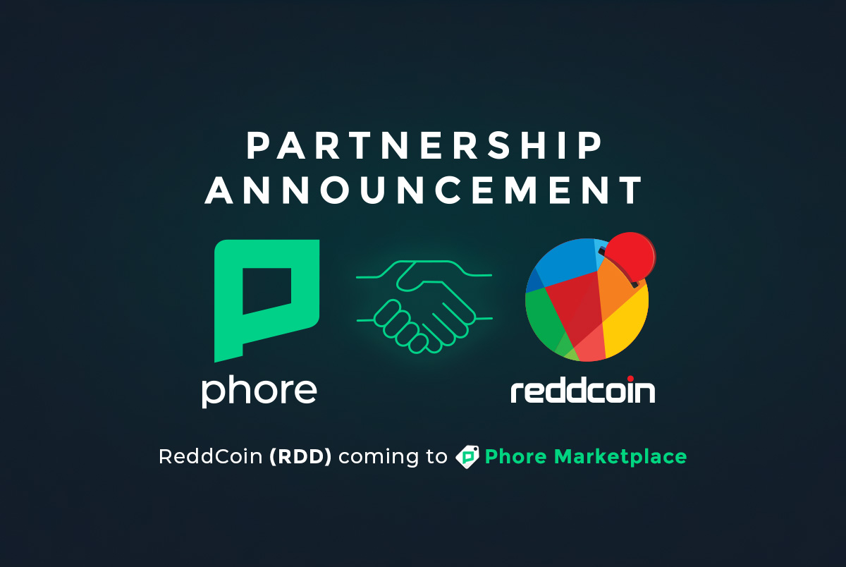 Phore Blockchain and Reddcoin Announce Partnership With Phore Marketplace
