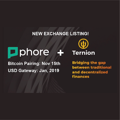Phore Blockchain to List on High-Security, Ternion Exchange