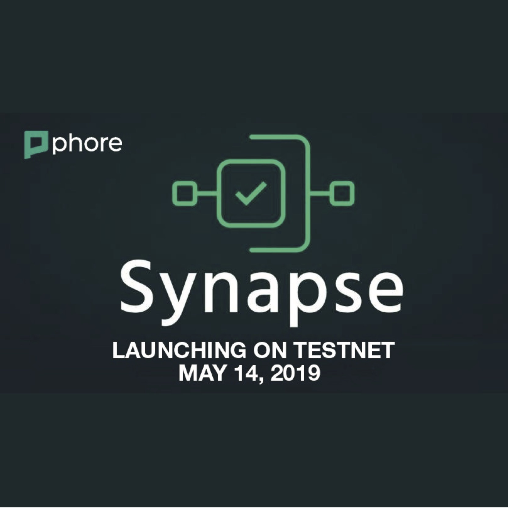 "Phore Blockchain's Advanced PoS Sharding Architecture ""Synapse"" to Launch on Testnet May 14, 2019"