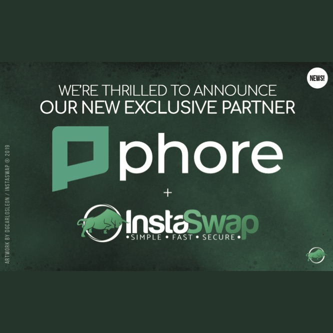 InstaSwap is Thrilled to announce a compendious partnership with Phore